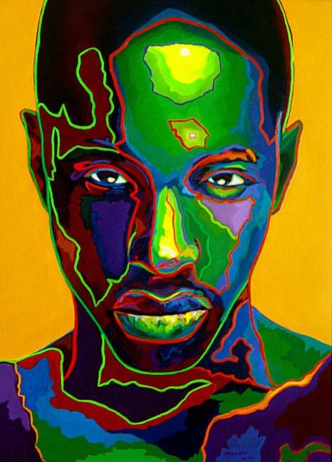 TitleGreen Man   MediumOil on Canvas   Size30x40 inches
