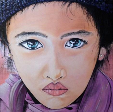 "Title""Anouk""   MediumOil painting   Size18' x 24'"
