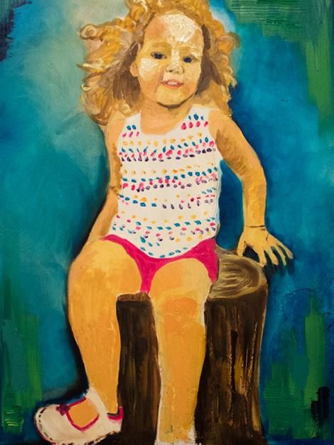 """Titlejewel   Mediumoil paint   Size18""""x24"""""""