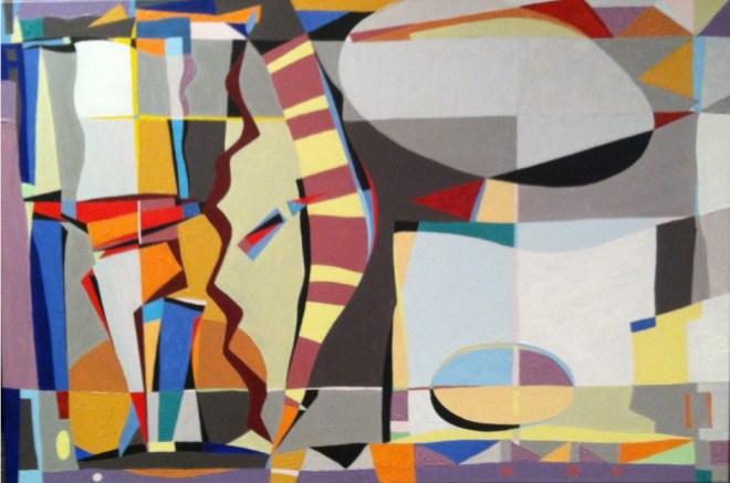 Title PARAMETERS   Medium  Acrylic on Canvas   Size 24H x 36W