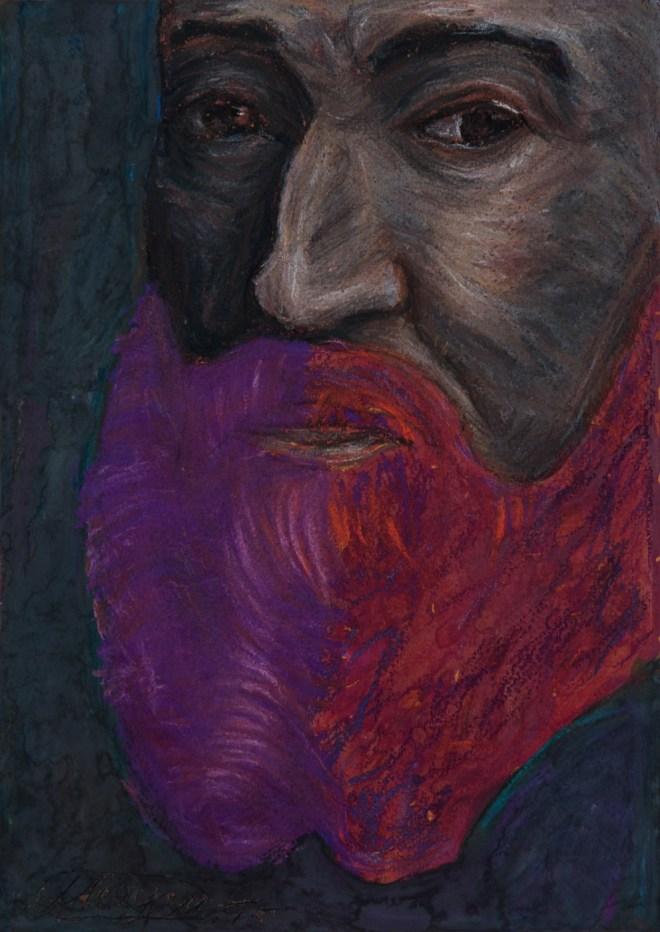 Title michelangelo   Medium pastel on paper   Size 30 20 cm