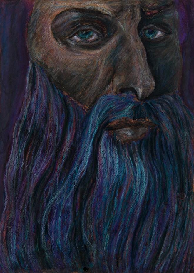 Title davinci   Medium pastel on paper   Size 30 20 cm