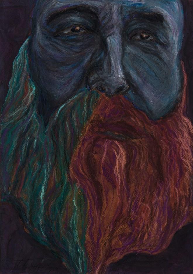 Title monet   Medium pastel on paper   Size 30 20 cm