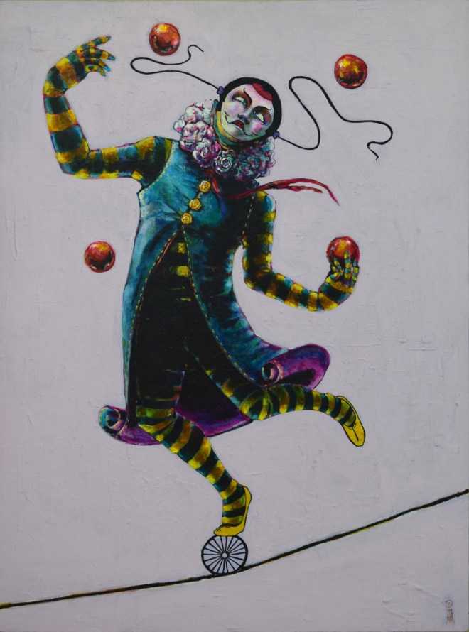 Title Juggler   Medium  Acrylic on Canvas   Size 40