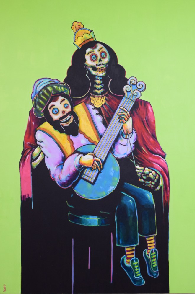 Title Ventriloquist   Medium  acrylic on canvas   Size 48