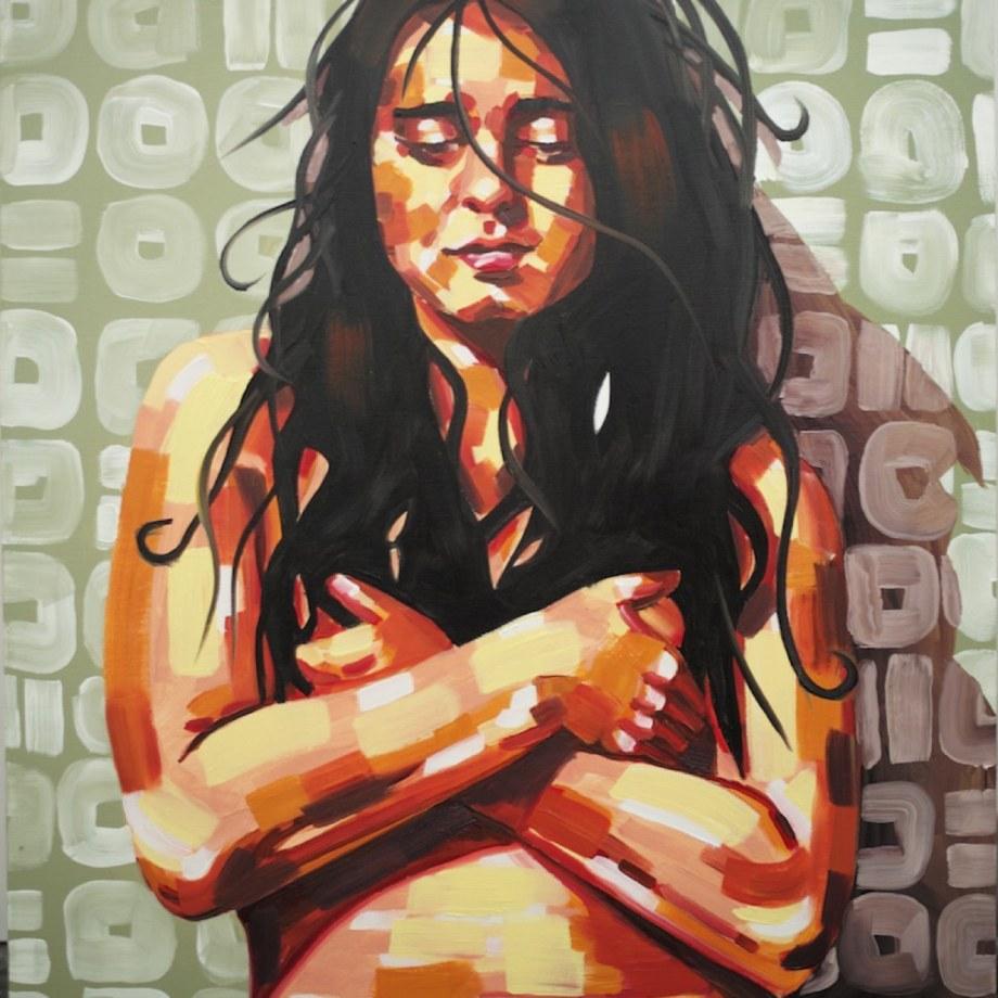 Title: Artist's self portrait Medium: Oil on Canvas Size: 12in x 12in