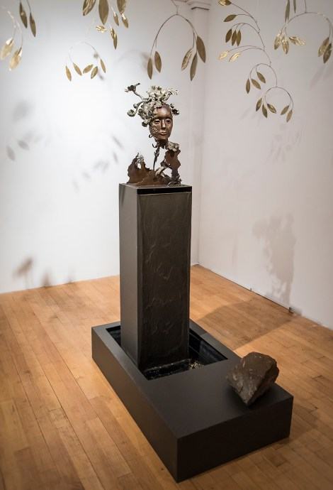 Title:BIRTH OF EVE Medium:Bronze, brass, steel & found objects Size:installation