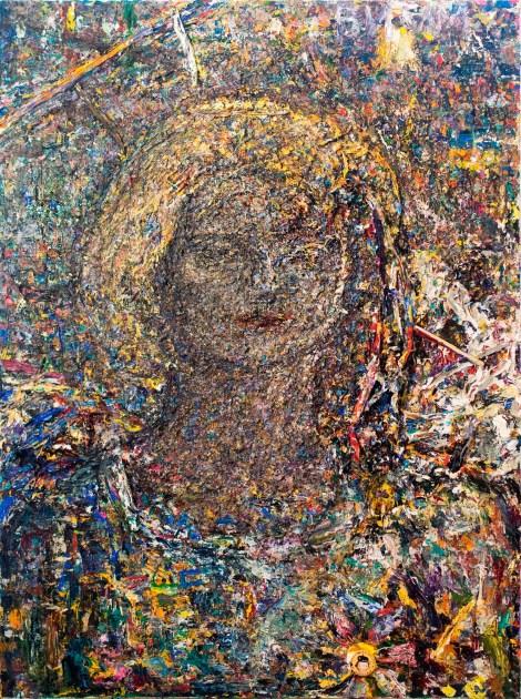 Title:Portrait of Rimma Simonova Medium:Acrylic, mixed media on canvas Size:40 x 30 inches
