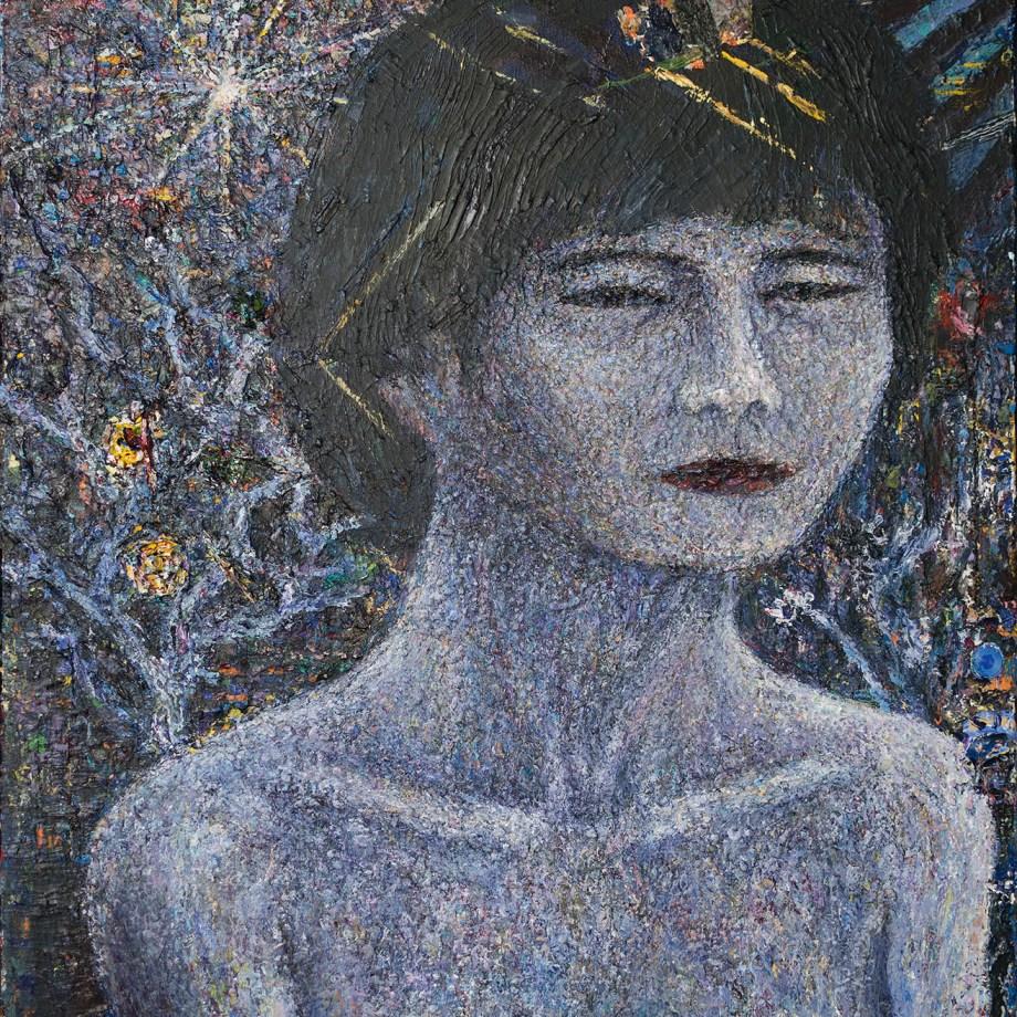 Title: Her Garden Medium: Acrylic on canvas Size: 60 x 73 cm