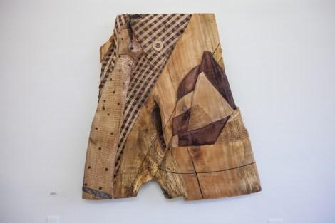 Title:Job Interview Medium:Wood, Metal Size:5'x4'