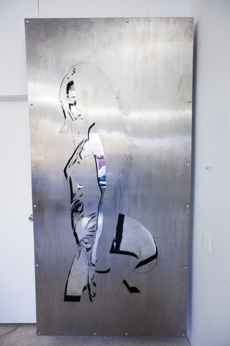 Title:Untitled Faces: John Berger Medium:Stainless Steel Size:6'x4'
