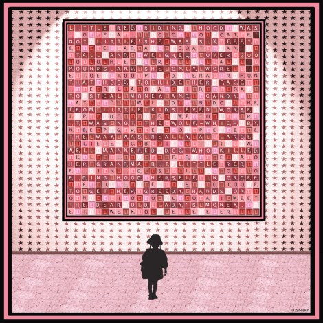 "Title:Red Riding Hood - Museum Viewer Medium:Original Digital Print Size:24"" x 24"""