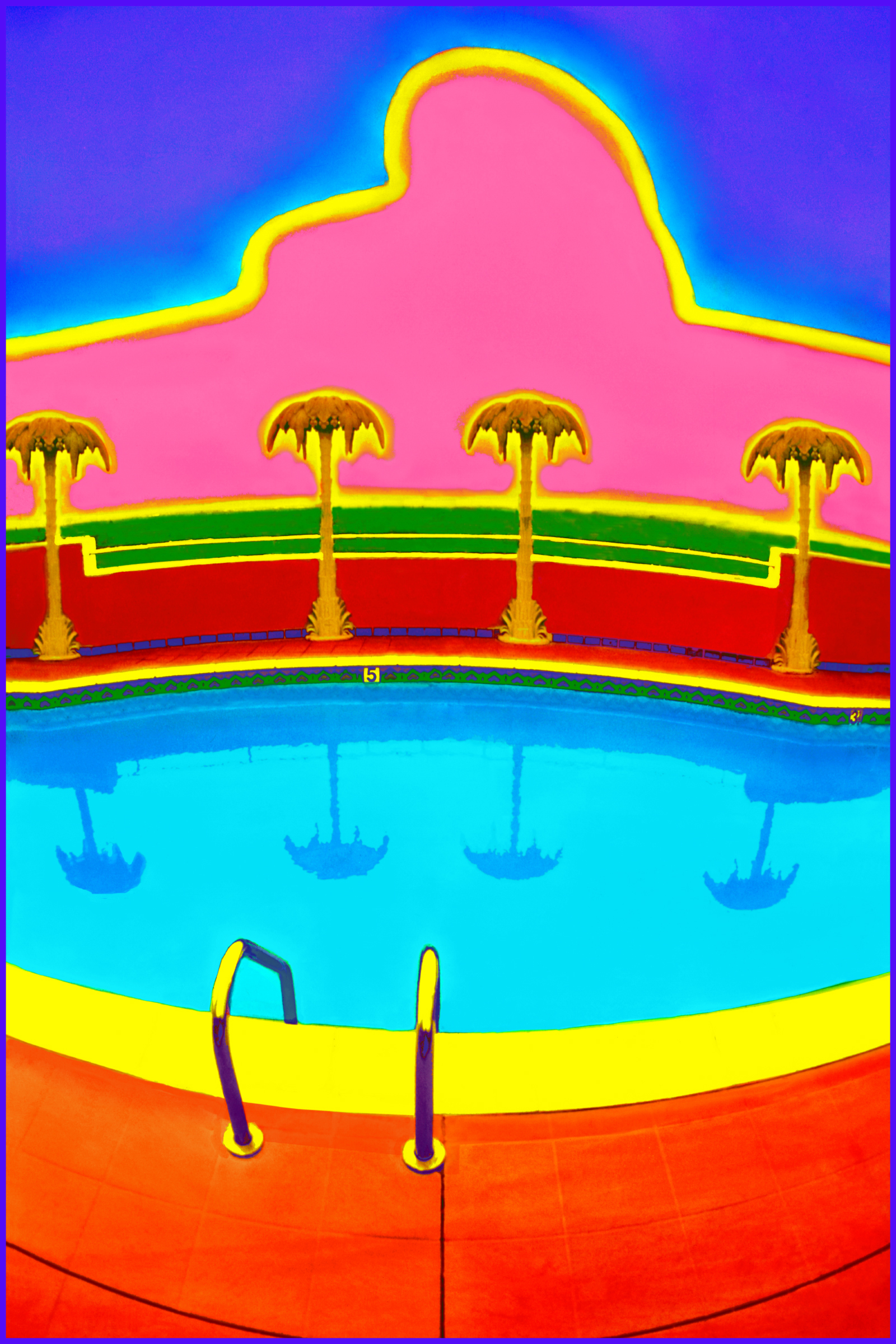 Title: Hollywood Pool Medium: Photoshop enhanced photography Size: 30 x 20