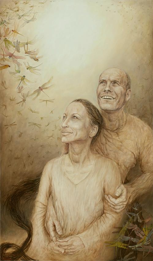 Title Couple   Medium oil on canvas   Size 110x65cm