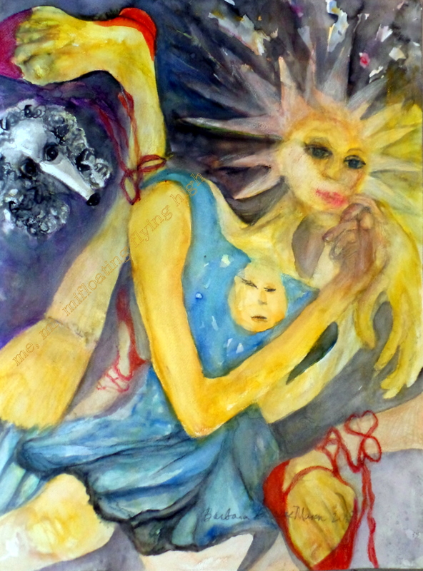 """Title In the Stars   Medium watercolor and pencil   Size 18 x 24"""""""