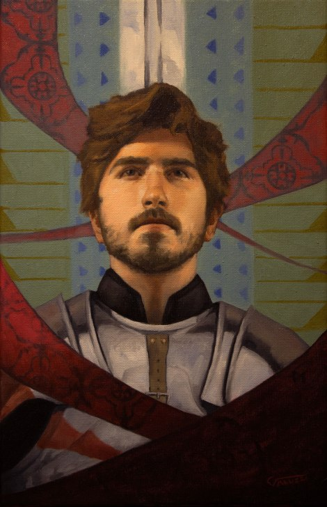 "Title:The Knight in Me Medium:	Oil Size:	10.5""x17"""