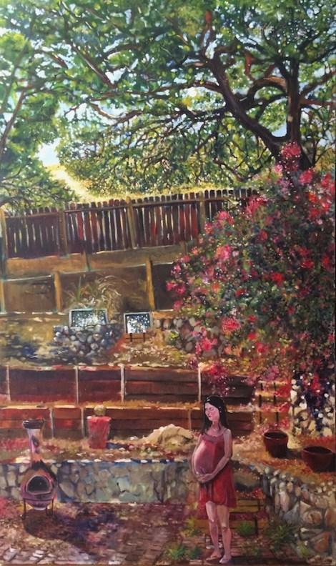 "Title:Pale Fires Medium:Oil on Canvas Size:60"" x 36"""