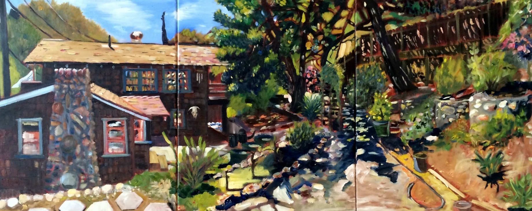"Title: Home Medium: Oil on Canvas Size: 16"" x 40"""