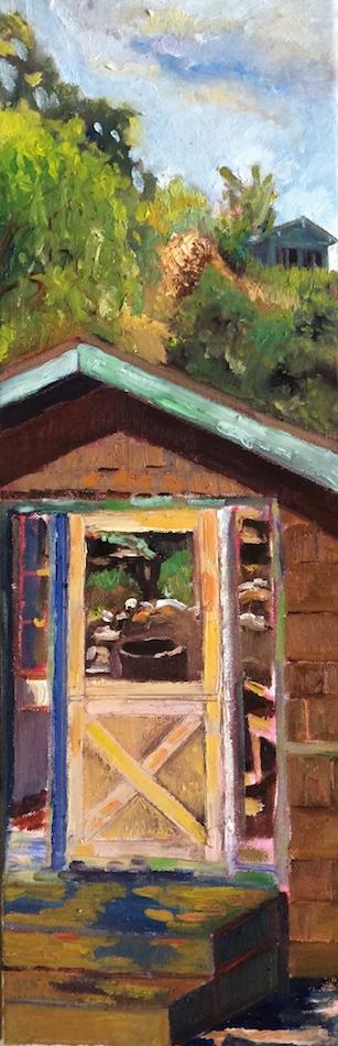 "Title:Dutch Door Medium:Oil on Canvas Size:24"" x 8"""