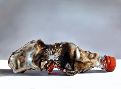 Title:Burnt Bottle Medium: oil Size:102cm x 76cm
