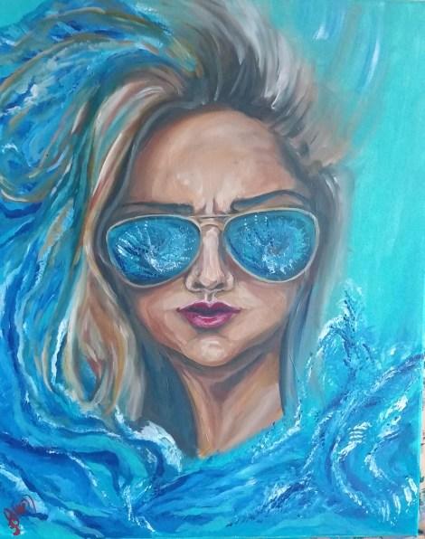 "Title:Life is a wave Medium:acrylic Size:20""x16"""