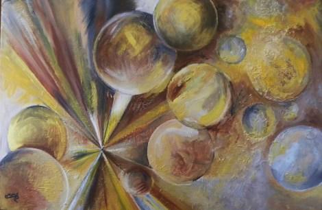 Title:End of Universe Medium:Acrylic Size:36x24