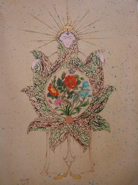 Title Sun Medium Gouache, watercolor Size 35 x 20 cm