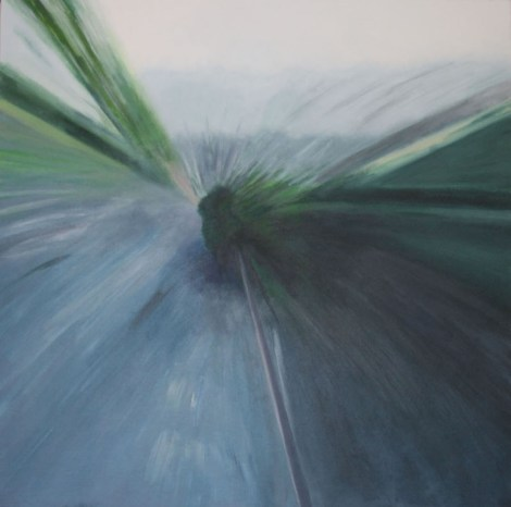 Title:Bike Trail Medium:	Acrylics Size:	36 inches by 36 inches