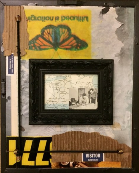 Title:Landmarks Medium:	mixed-media assemblage Size:	12 x 16