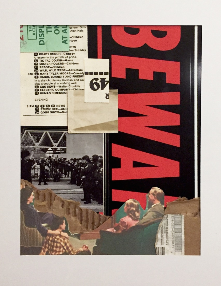 Title: Beware of Box Media Medium: Mixed Media Collage Size: 11 x 14