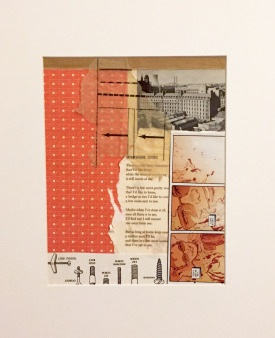 Title:Lonesome Cities Medium:Mixed-media collage Size:11 x 14