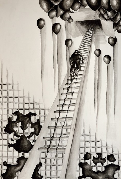 Title:REM-Sleep Medium:	India Ink Size:	18x24