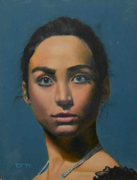 Title:Portrait of a Girl Medium:	Oil Size:	9 in. x 12 in. (approx.)