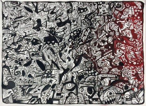 Title:Untitled Medium:	India Ink Size:	4 feet x 3 feet
