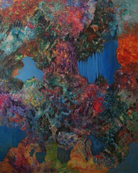 Title:Internal Landscape Series-10 Medium:Acrylic Size:48in x 60in