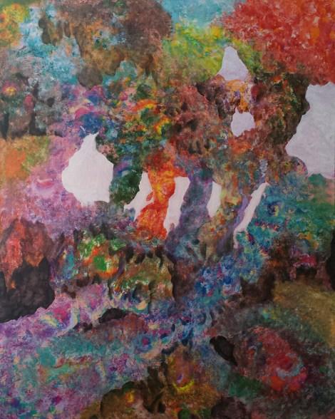 Title:Internal Landscape Series-11 Medium:Acrylic Size:48in x 60in