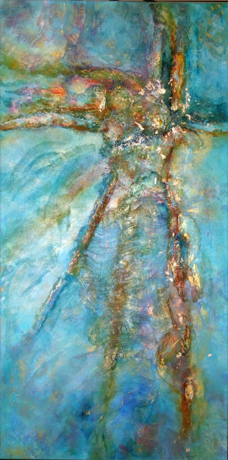 Title:Contemplation of Sea and Sun Medium:Mixed Media, Acrylic Size:24x48