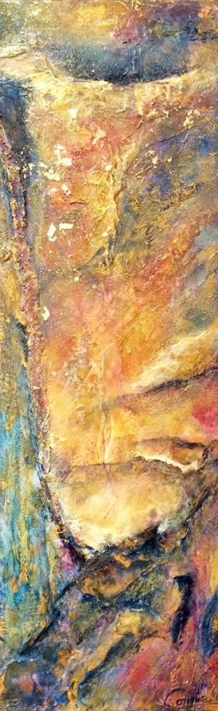 Title:Emerging Medium:	Mixed Media, Acrylic Size:	12x36