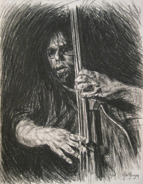 "Title:Chris Brydge In Charcoal Medium:	charcoal Size:	11"" x 8-1/2"""