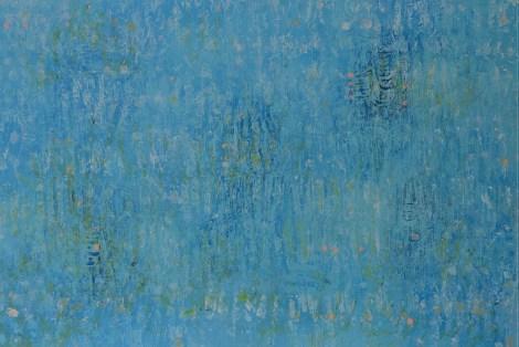 "Title:Blue Over Blue #2 Medium:Acrylic Size:24"" x 36"""