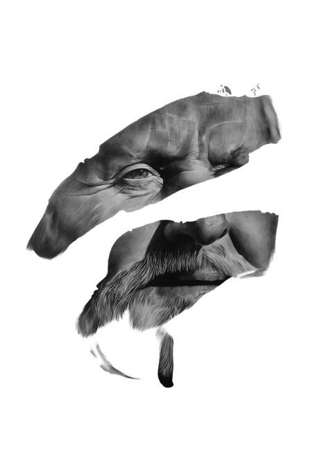 "Title:""Instinct"" Medium:hand pencil drawing on paper Size:100cm x 70cm"