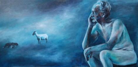 Title: This Old Man Medium: Acrylic on Canvas Size: 30''x15''