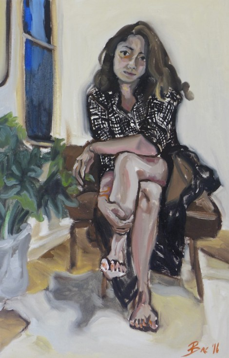 TitleSelf Portrait   Mediumoil on linen   Size30 x 20 inches