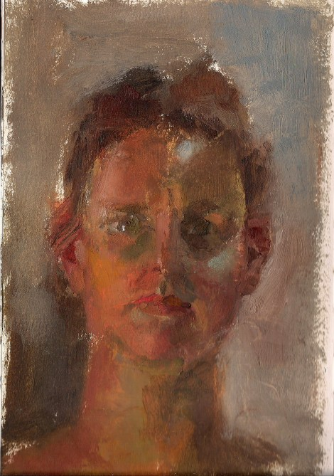 Titlein my lighted studio   Medium	oil on paper   Size	23/15 cm