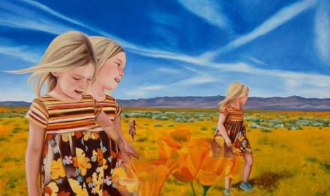 "TitleIn the Poppy Field   Mediumoil on canvas   Size36"" x 60"""