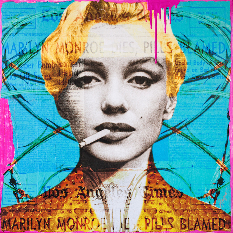 Title Blame It on Marilyn Medium Mixed Media Size 36x36""