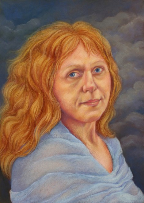 TitlePassing of Time: A Self-Portrait Medium Pastel Size 27x19