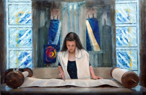 TitleRachel and the Torah   Medium	Photography and oil painting   Size	18x12