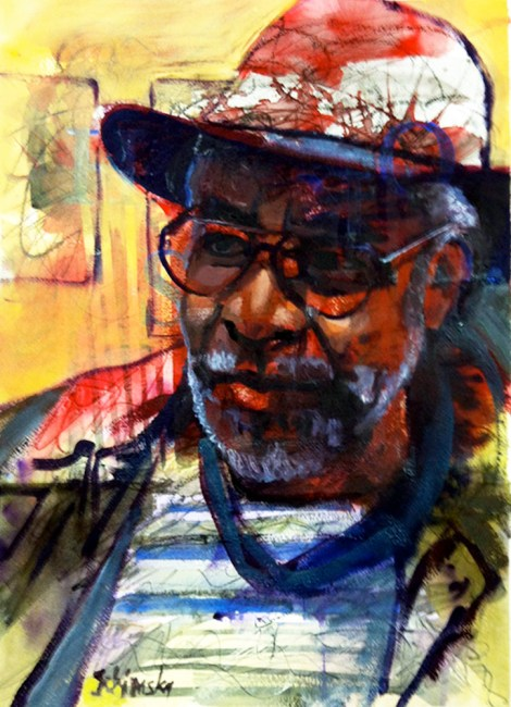 """TitleArchie   MediumWatercolor   Size19"""" x 13"""""""