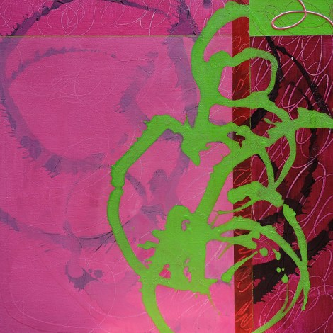 Title:Magenta Medium:	Acrylic & Mixed Media on Gallery Wrap Size:	24x24""